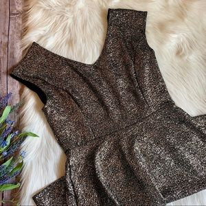 One Clothing | Gold Sparkle Little Black Dress